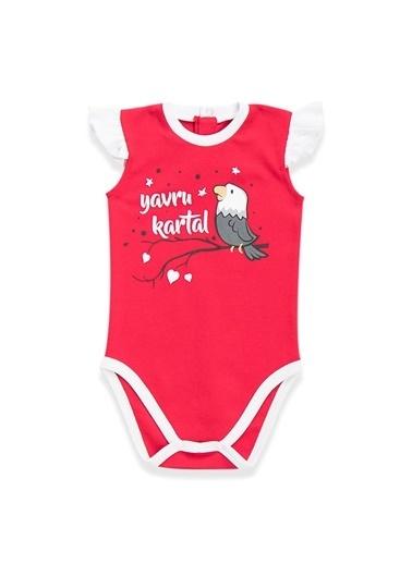 Beşiktaş Beşiktaş Lisanslı Kız Bebek Body Karmelanj Kırmızı